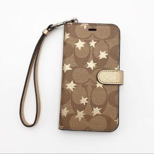 Coach IPhone X Phone Case/Wallet Wristlet